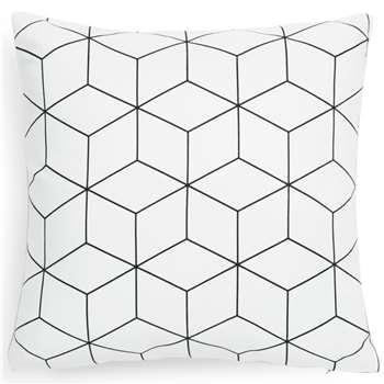 CUBO white fabric cushion cover (40 x 40cm)