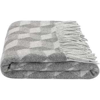 Cubus Throw, Grey (125 x 170cm)