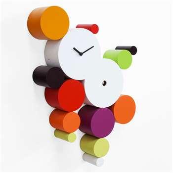 Cucuball Cuckoo Clock - Warm Colours (H65 x W48cm)