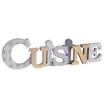 CUISINE Patterned Word Wall Art  (13 x 44cm)