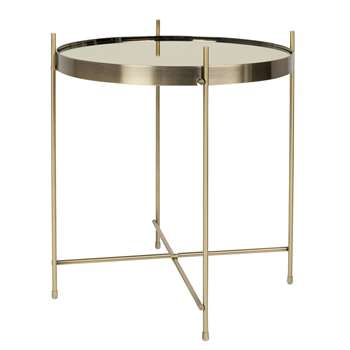 Zuiver Cupid Living Room Small Side Table in Metallic Gold (45 x 43cm)