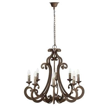 Curlicue Chandelier - Antique Grey (72 x 76cm)