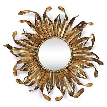 Curling Sun Mirror - Antique Gold (Diameter 93cm)