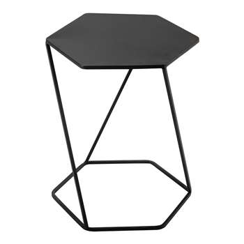 CURTIS metal side table in black (55 x 45cm)