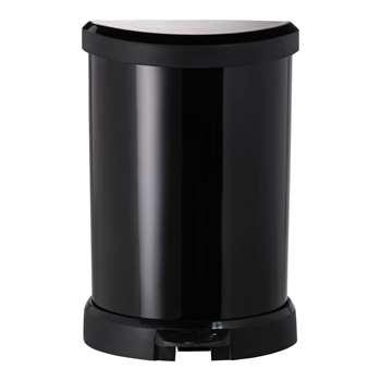 Curver 20L Deco Bin - Black 45 x 30cm