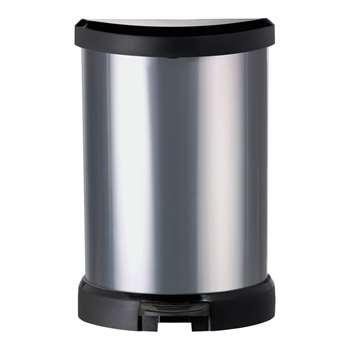 Curver 20L Deco Bin - Silver 45 x 30cm
