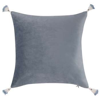 INES Cushion Cover with Blue Tassels (H40 x W40cm)