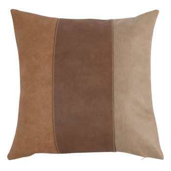 Cushion Cover with Brown Bands (H50 x W50cm)