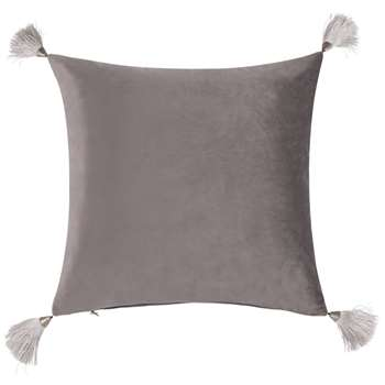 AUSTRALE Cushion Cover with Grey Tassels (H40 x W40cm)