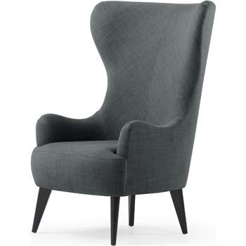 Custom MADE Bodil  Accent Chair, Smart Grey (H82 x W117cm)