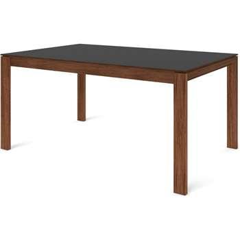 Custom MADE Corinna 6 Seat Dining Table, Grey HPL and Walnut (H75 x W160 x D100cm)