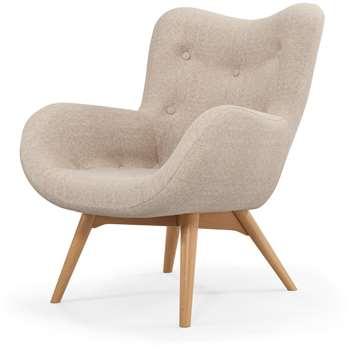 Custom MADE Doris Accent Chair, Shetland Pink (H89 x W74 x D84cm)