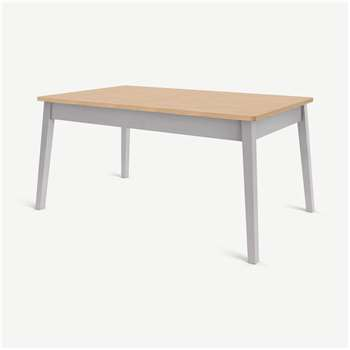 Custom MADE Harrison Shaker 6 Seat Dining Table, Oak and Grey (H75 x W160 x D95cm)
