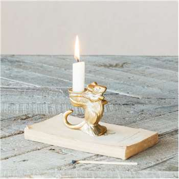 Cuthbert Mouse Candle Holder (H8 x W7.5 x D4cm)