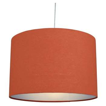 "Cylinder 12"" Pendant Light Shade Orange (H20.5 x W30.5 x D30.5cm)"
