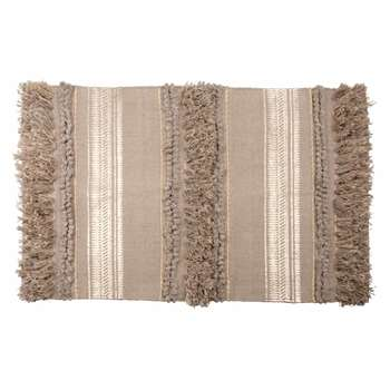 CYRRHUS Jacquard Cotton Rug with Gold Print Weave (H50 x W80cm)