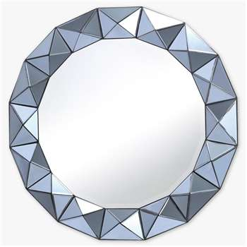 Där Cetara Round Wall Mirror, Smoke Grey (Diameter 80cm)