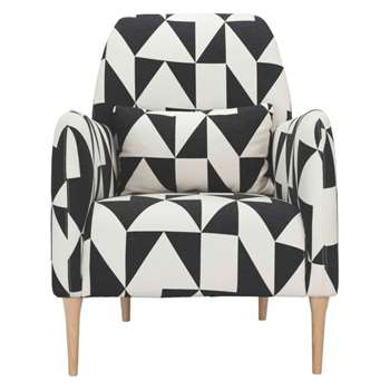 Daborn Black and white geometric fabric