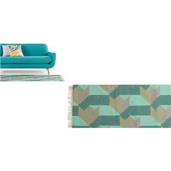 Dakota Runner, Sea Green (66 x 200cm)