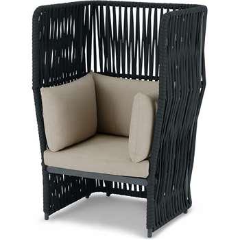 Dalat Garden Armchair, Dark Grey (H134 x W88 x D71cm)
