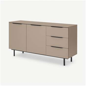 Damien Sideboard, Cappuccino & Black (H83 x W156 x D45cm)