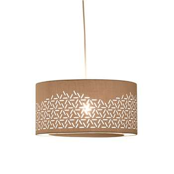 Danica Easy Fit Lamp Shade, Grey (H20 x W40 x D40cm)