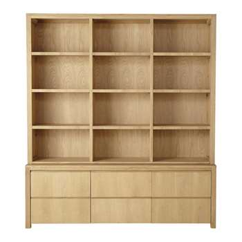DANUBE Solid oak bookcase (220 x 195cm)