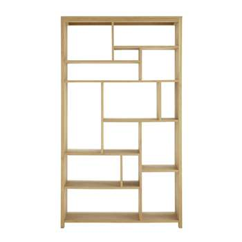 DANUBE Solid oak shelf unit W 112cm