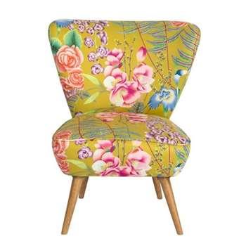 Daphne Chair – Amaryllis Coral (H84 x W72 x D80cm)