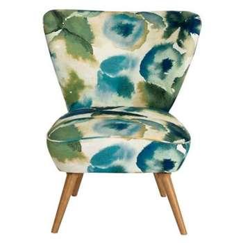 Daphne Chair – Flores Sky (H84 x W72 x D80cm)