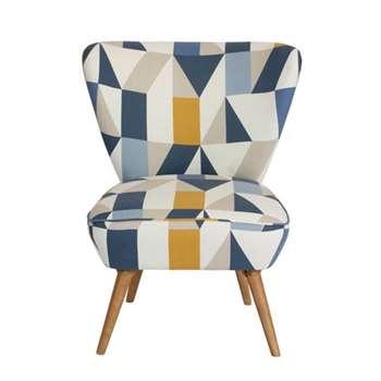 Daphne Chair – Nuevo Indigo (H84 x W72 x D80cm)