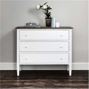 Daphne Chest Of Drawers - White (H89 x W105 x D39cm)