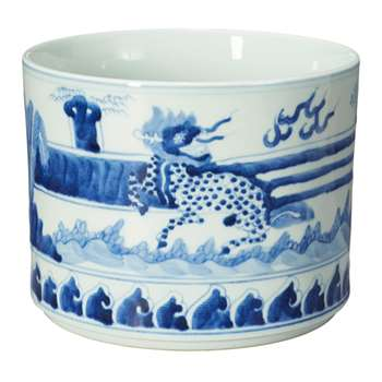 Daqing Planter, Large - Blue/White (28 x 35cm)