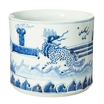 Daqing Planter, Medium - Blue/White (25 x 30cm)