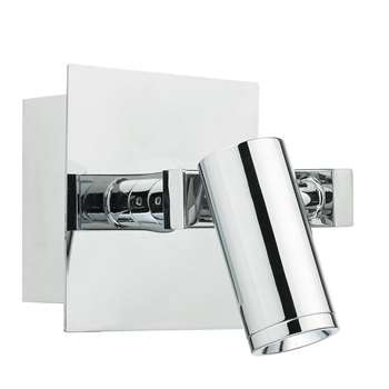 Dar Bex LED Wall Light Polished Chrome (H9 x W14 x D14cm)
