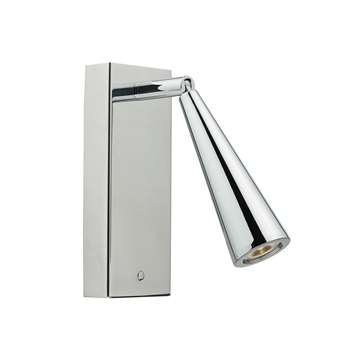 Dar Hagen LED Wall Bracket Polished Chrome (H16 x W6cm)