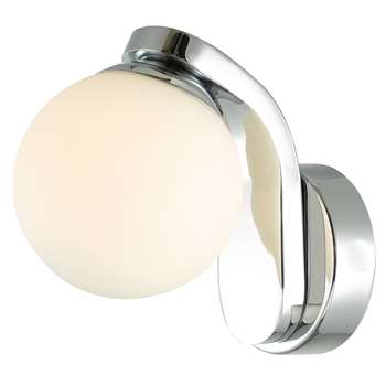 Dar Iker LED Wall Light Polished Chrome (H170 x W11cm)