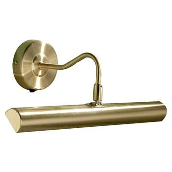Dar Onedin 2 Light Picture Light Satin Brass (H18 x W37cm)