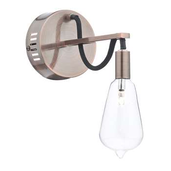 Dar Scroll Wall Light Copper (H23.5 x W22.8 x D11cm)