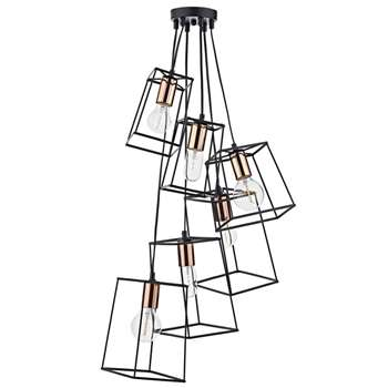 Dar Tower 6 Light Pendant Ceiling Light (H130 x W50 x D50cm)