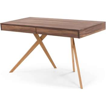 Darcey Desk, Walnut and Oak (73 x 130cm)