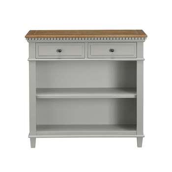 Darcey Low Bookcase, Light Grey (Width 91cm)