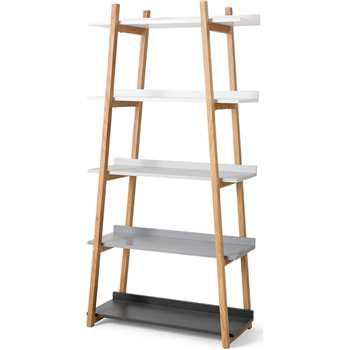 Darcey Shelves, Multicolour Grey (H180 x W90 x D40cm)