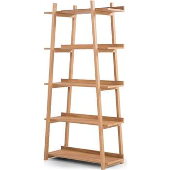 Darcey Shelves, Oak (H180 x W90 x D40cm)