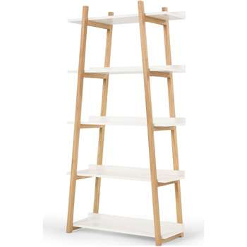 Darcey Shelves, White (H180 x W90 x D40cm)