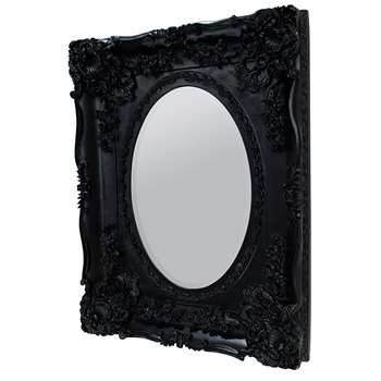 Darcy Mirror Black (H96.5 x W77.5cm)