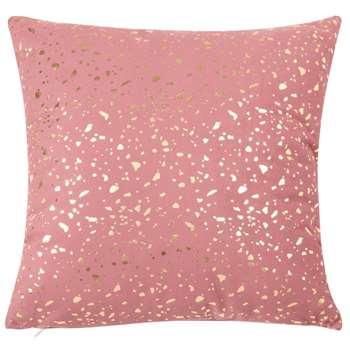 MYRIADE Dark Pink Cushion Cover with Gold Print (H40 x W40cm)