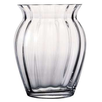 Dartington Crystal Florabundance Tulip Vase (Height 18.5cm)