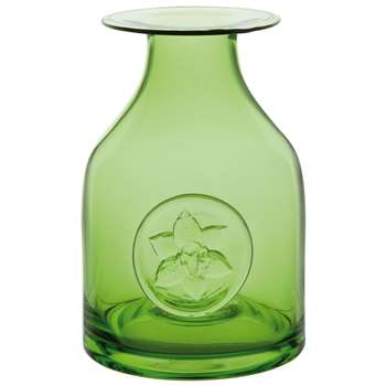 Dartington Crystal Lily Bottle Vase, Green