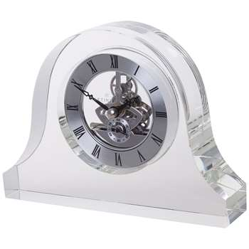 Dartington Crystal Mantle Clock, Clear (H13 x W18cm)